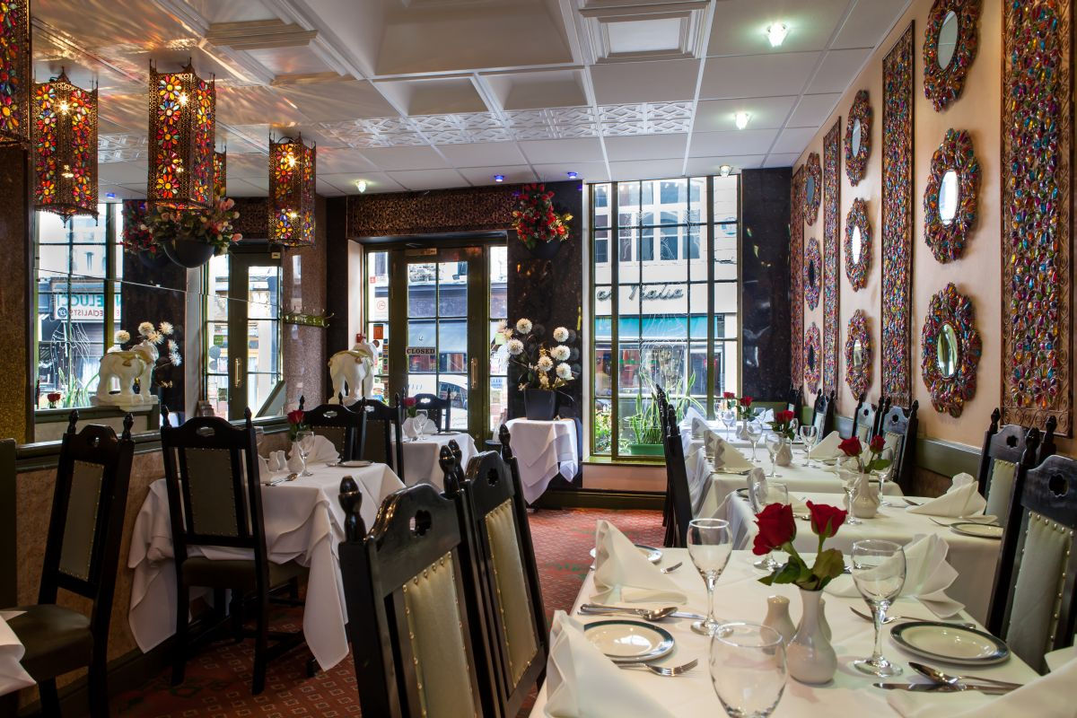 Inside view Delhi Brasserie Indian Restaurant Soho