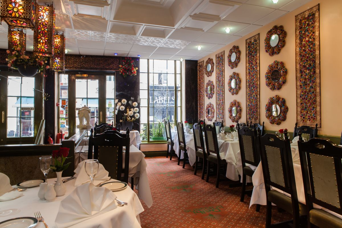 Inside Delhi Brasserie Indian Restaurant Soho