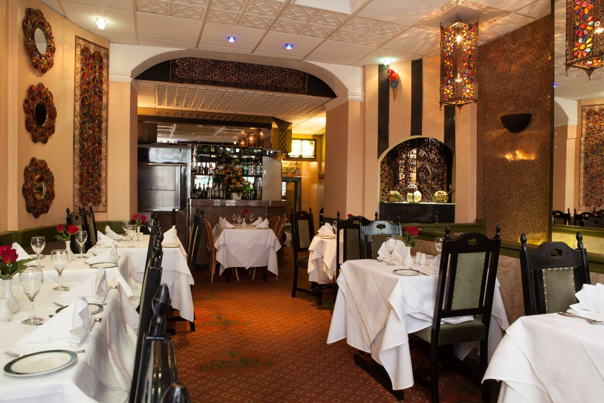 Inside view of Delhi Brasserie Indian Restaurant Soho