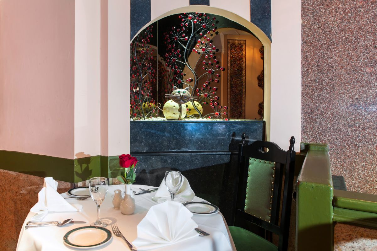 Interior view of Delhi Brasserie Indian Restaurant Soho
