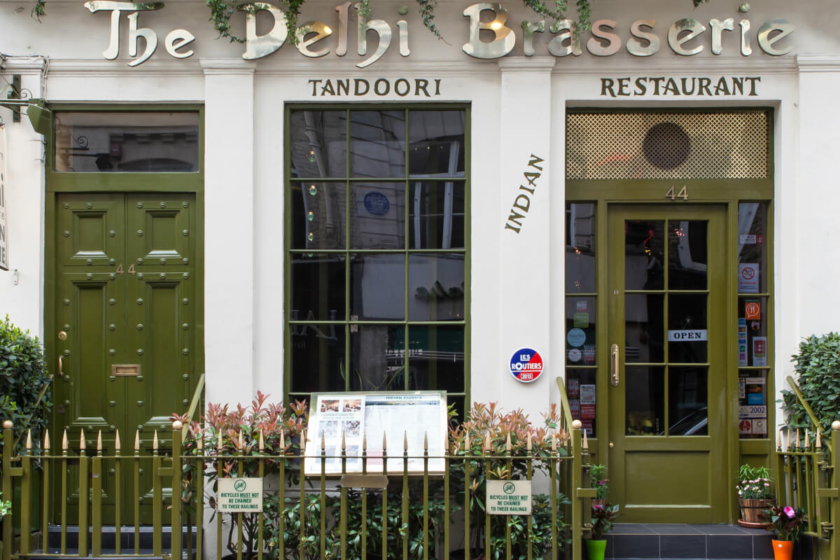 Delhi Brasserie Indian Restaurant in Frith Street London