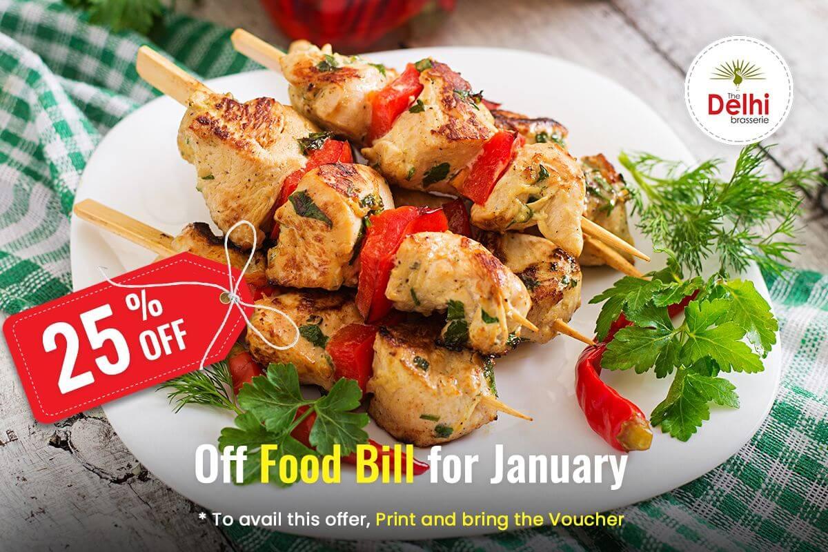 Delhi Brasserie Soho January Offer 2019